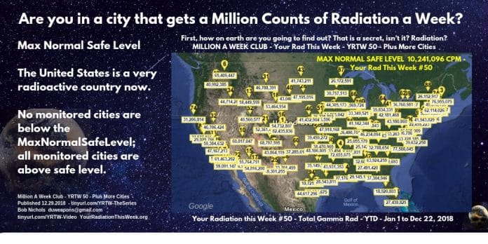 MILLION A WEEK CLUB - YRTW 50 - Are you in a city that gets a Million Counts of Radiation a Week