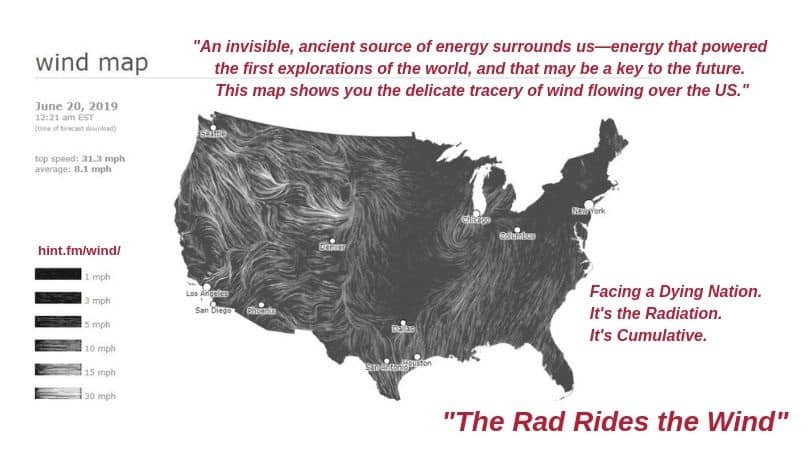 2019.22 WIND MAP - THE RADIATION RIDES THE WIND