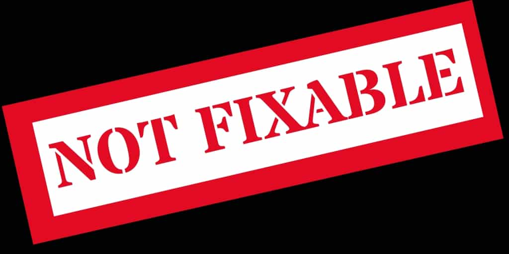 NOT FIXABLE -