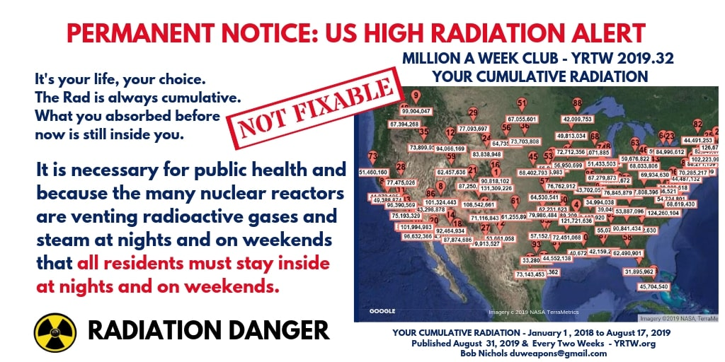 PERMANENT NOTICE - US HIGH RADIATION ALERT - YRTW 2019.32