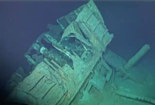 A private mission found the mangled debris of what is likely the U.S.S. Johnston 20,400 feet under the surface