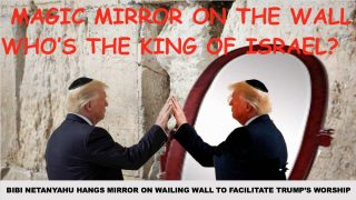 """Trump, who annointed himself King of Israel and Second Coming of God last August, is expected to issue a new executive order tomorrow making """"King of Israel"""" a protected nationality..."""