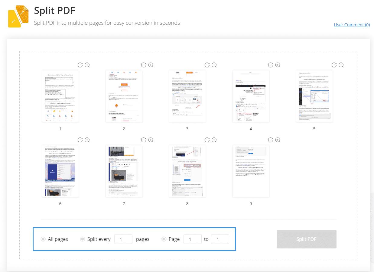 EasePDF Split PDF