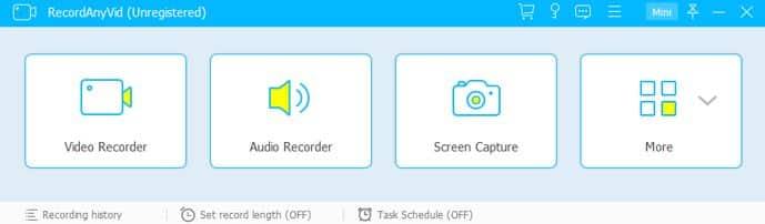 Open Webcam Recorder on RecordAnyVid