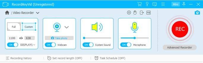 Adjust Webcam Recording Settings