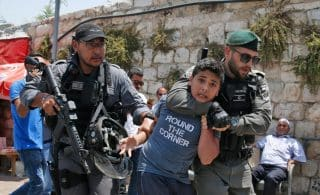 This image has an empty alt attribute; its file name is AFP-Palestinian-child-detention-320x195.jpg
